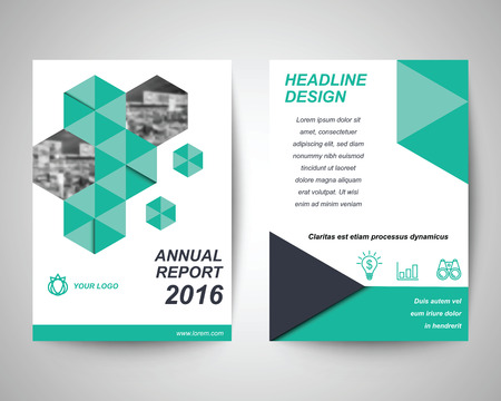 brochure cover design: green and black abstract flyer with people background layout template, brochure background, leaflet with cover, annual report, vector design in a4 size for business