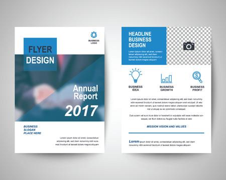 Blue Medical Flyer Template Brochure Background Leaflet With