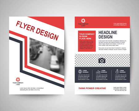 a4: red and black abstract flyer layout template, brochure background, leaflet with cover, vector design in a4 size for business annual report