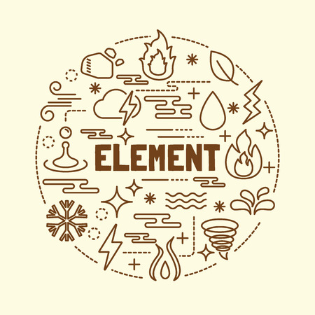waft: element minimal thin line icons set, vector illustration design elements