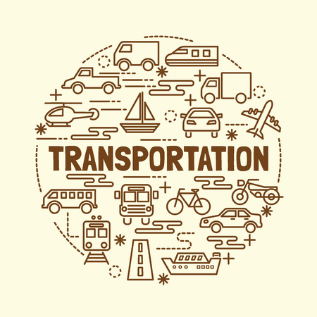 shinkansen: transportation minimal thin line icons set, vector illustration design elements Illustration