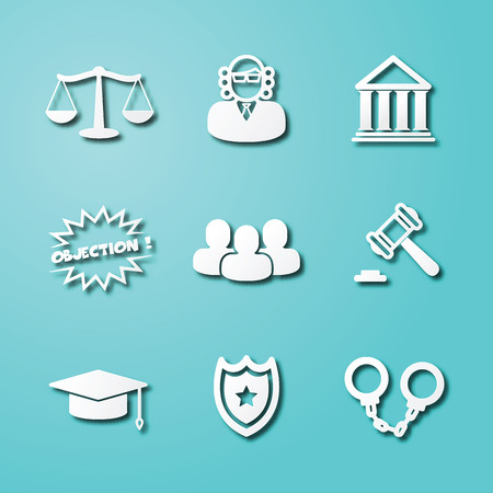 scale of justice: A law paper art icons, vector elements design.