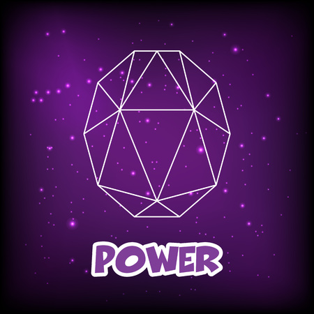 purple gemstone outline design, vector icon