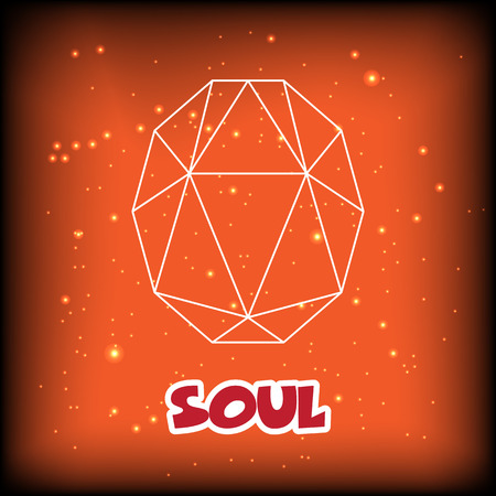 orange gemstone outline design, vector icon