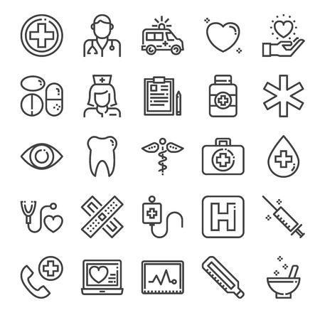 healthcare pixel perfect icons, vector line editable stroke (48x48)