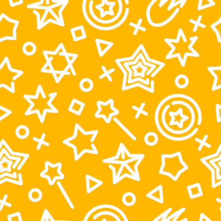 star outline seamless pattern, vector background