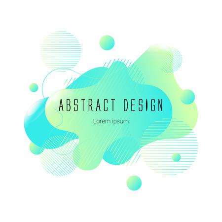 green abstract liquid shape, vector banner modern design