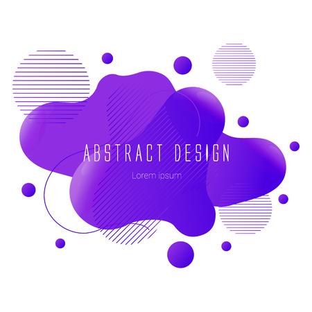 purple abstract liquid shape, vector banner modern design