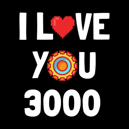 i love you 3000, vector design