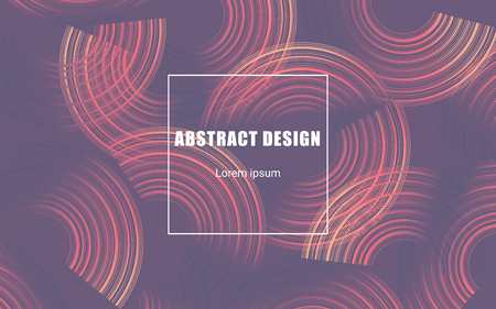 circle geometric abstract background, vector banner design