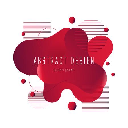 red abstract liquid shape, vector banner modern design Иллюстрация