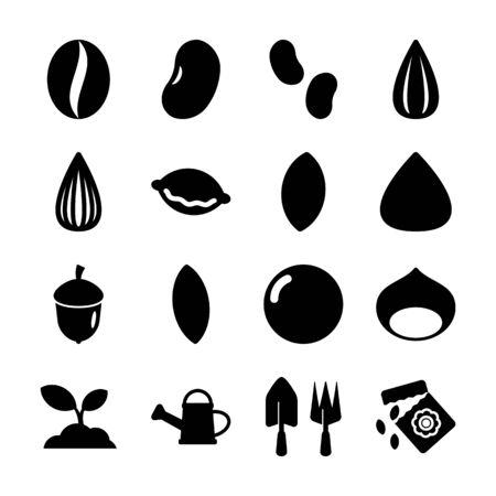 seed solid icons vector design