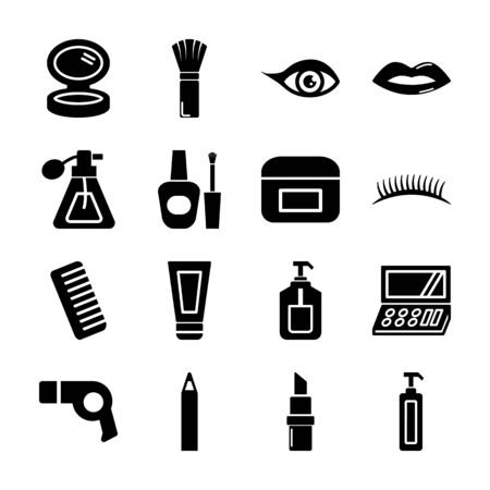 cosmetic solid icons vector design