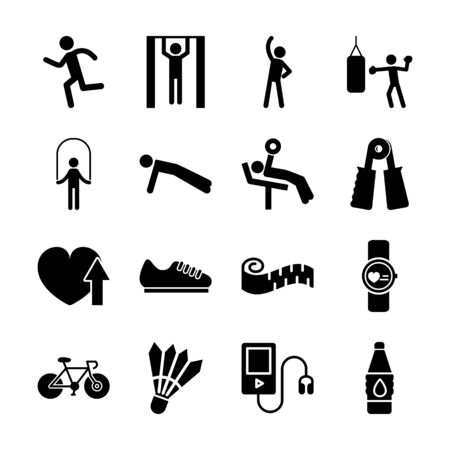 exercise solid icon vector design