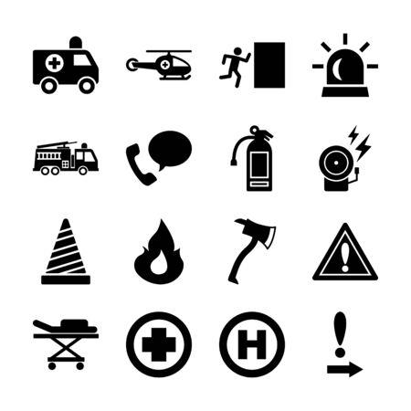 emergency solid icon vector design
