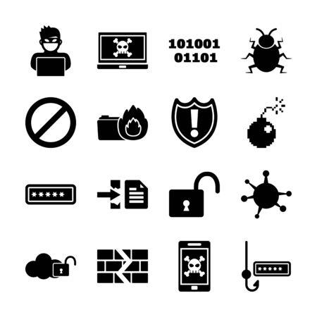 hacker solid icon vector design