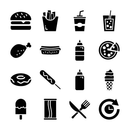 fast food solid icon vector design Imagens - 130042791