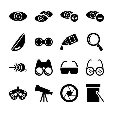 optical solid icons vector design