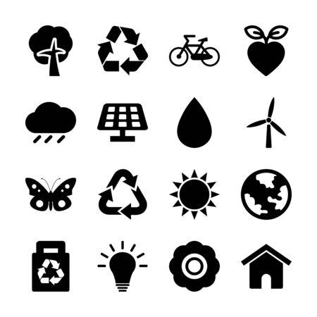 environment solid icon vector design Archivio Fotografico - 130042309