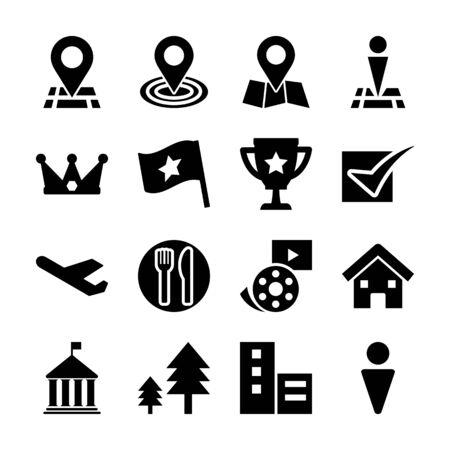 check in solid icons vetor design Иллюстрация