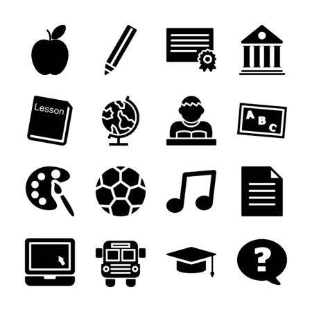 education solid icon vector design