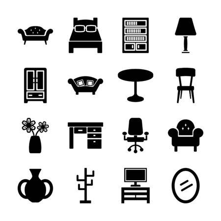 furniture solid icon vector design