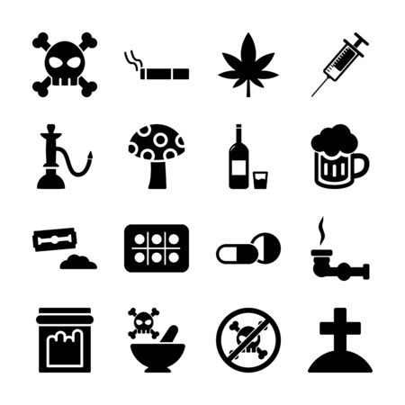 drug solid icons vector design