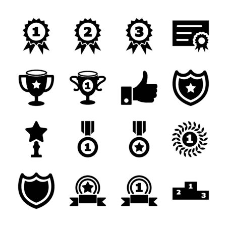 award solid icons vector design