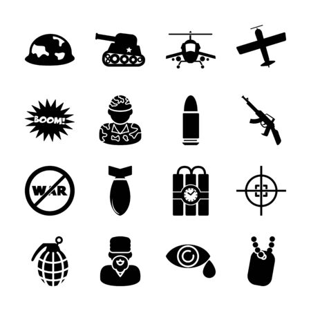 Anti-war solid icons vector design