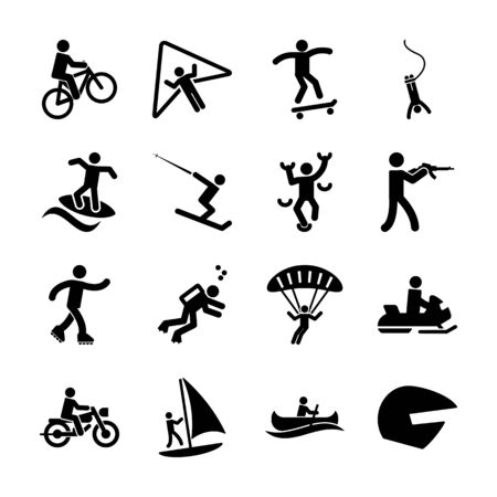 extreme solid icon vector design