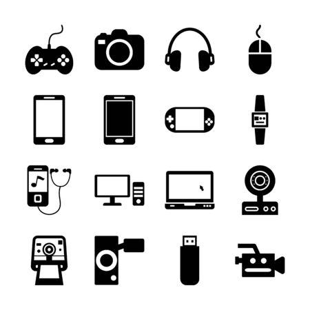 gadget solid icon vector design