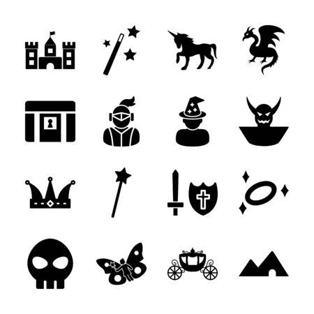 fantasy solid icon vector design