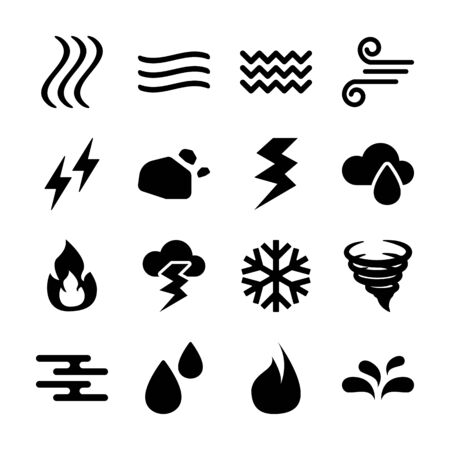 elements solid icon vector design Ilustracja