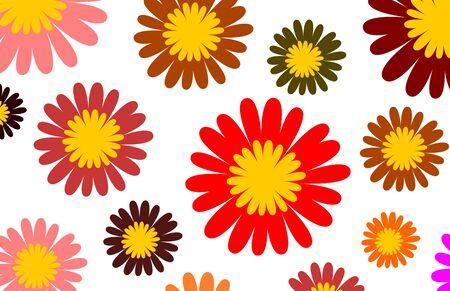 graphic illustration: Graphic illustration with color blossoms Stock Photo