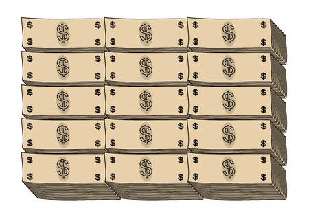 bundle: A bundle of dollar banknotes