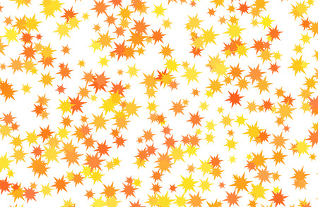 Red and yellow stars on white background