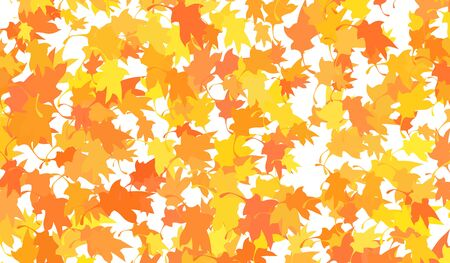 Background with flying leaves
