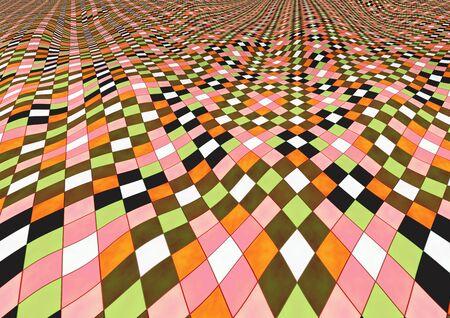 perspectiva lineal: Resumen de fondo que recuerda de pavimento ondulado