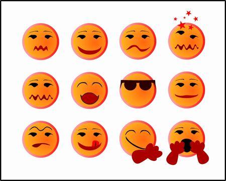 yawning: A set of 12 smiles