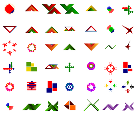 A set of 42 logos and icons suitable for graphic designers and new companies and websites