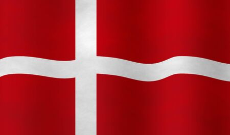 hymn: Illustration of a Danish Flag Stock Photo