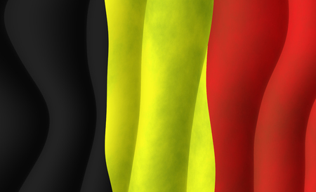 Illustration of a Belgian Flag Stock Photo