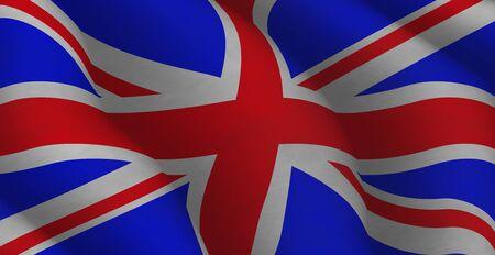Illustration of a flying British Flag