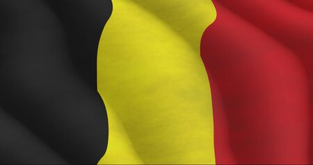 Illustration of a flying Belgian Flag Stock Photo
