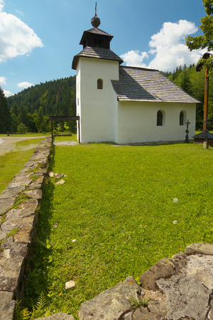 perspectiva lineal: Rural Slovak Church