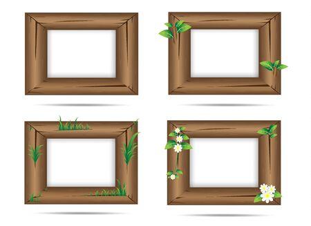wood frame: wood frame Illustration