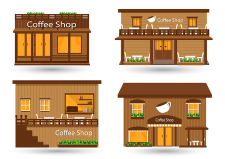 coffee houses: Coffee shop vector illustration Illustration