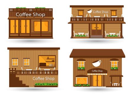 shop icon: Coffee shop vector illustration Illustration
