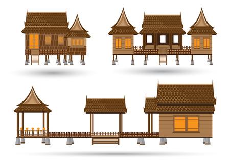 Maison de centre de la Thaïlande Banque d'images - 41583806