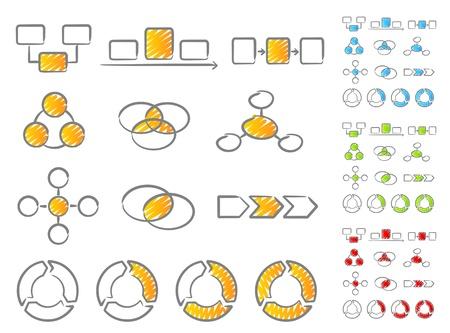 Diagrams scribble icons Stock Vector - 10494647